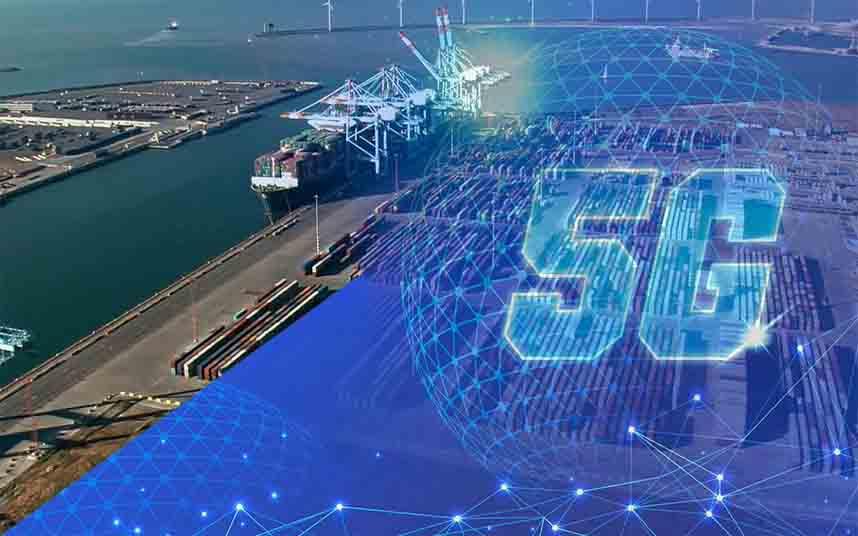 Digitalización del puerto belga de Zeebrugge con una red 5G de Nokia